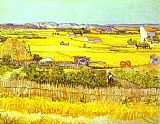 Landscape paintings - Harvest Landscape by Vincent van Gogh
