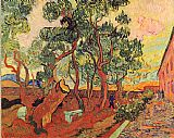Vincent van Gogh Madhouse garden of St-Remy painting