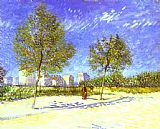 Vincent van Gogh On the Outskirts of Paris painting