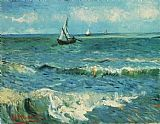 Vincent van Gogh Seascape at Saintes Maries 1 painting