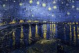 vincent van gogh Canvas Prints - Starry Night over the Rhone