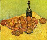 Vincent van Gogh Still life with a bottle of lemons and oranges painting