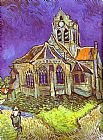 Church paintings - The Church in Auvers by Vincent van Gogh