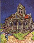 Church paintings - The Church of Auvers by Vincent van Gogh