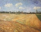 Vincent van Gogh The Plowed Field painting