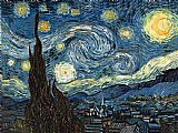 vincent van gogh Paintings - The Starry Night 2