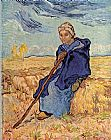 Vincent van Gogh The shepherdess painting