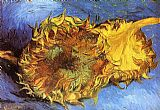 Vincent van Gogh Two Cut Sunflowers painting