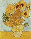 Vincent van Gogh Vase with Twelve Sunflowers painting