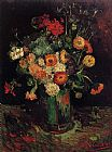 Vincent van Gogh Vase with Zinnias and Geraniums painting