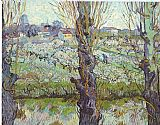 Vincent van Gogh View of Arles Flowering Orchards painting