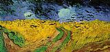 Vincent van Gogh Wheat Field with Crows painting