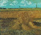 Vincent van Gogh Wheat Field with Sheaves painting