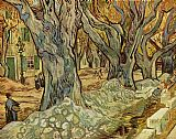 Vincent van Gogh canalization works painting
