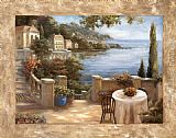 two sisters on the terrace Canvas Prints - Mediterranean Terrace I