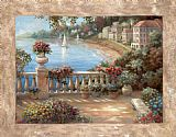 two sisters on the terrace Canvas Prints - Mediterranean Terrace ii