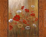 Vivian Flasch Poppies & Morning Glories II painting