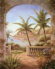 Vivian Flasch Tropical Terrace II painting