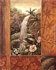 Vivian Flasch Tropical Waterfall II painting