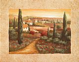 Vivian Flasch Tuscan Sunset I painting