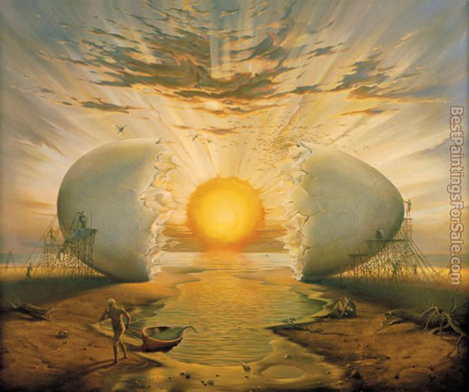 Vladimir Kush Sunrise by the Ocean