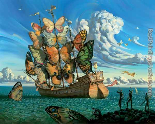 Vladimir Kush departure of the winged ship