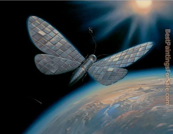 Vladimir Kush winged satellite