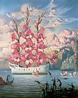 Vladimir Kush Arrival of the Flower Ship painting