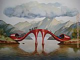 Vladimir Kush Fashionable Bridge painting