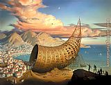 Vladimir Kush Horn of Babel painting