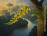 Vladimir Kush Orchid Family Rollercoaster painting