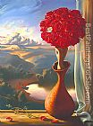 Vladimir Kush Rose Awaiting painting