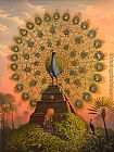 Vladimir Kush Sacred Bird of Yucatan painting