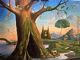 Vladimir Kush TREE OF LIFE painting