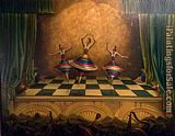 Vladimir Kush Three Graces 1998 painting