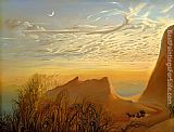 Vladimir Kush anticipation of nights shelter painting