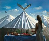 Vladimir Kush invite for lunch painting
