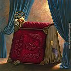 Vladimir Kush pillow book painting