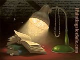 Vladimir Kush reading lamp painting