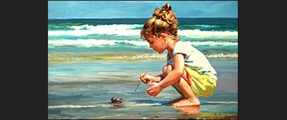 Vladimir Volegov meeting with a crab