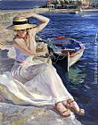 Vladimir Volegov At Water's Edge painting