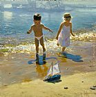 Vladimir Volegov FUN BY THE SHORE painting
