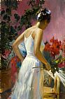 Vladimir Volegov GATHERING FLOWERS painting