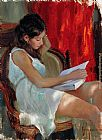 Vladimir Volegov Reading a novel painting