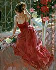 Vladimir Volegov Reverie in red and white painting