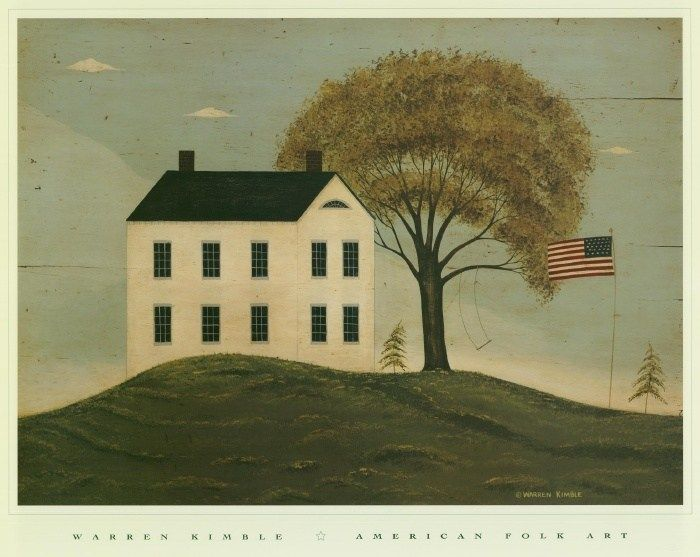 Warren Kimble House with Flag