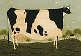 Warren Kimble American Cow painting