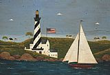 Lighthouse paintings - Coastal Breeze II by Warren Kimble