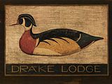 Warren Kimble Drake Lodge painting