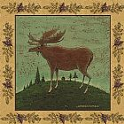 Warren Kimble Folk Moose painting
